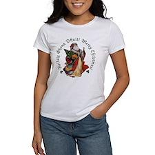 Santa Irish/English Text Tee