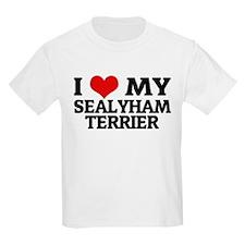 I Love My Sealyham Terrier Kids T-Shirt