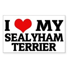 I Love My Sealyham Terrier Rectangle Decal