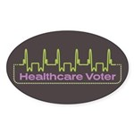 Healthcare Voter Oval Stickers (10 pk)