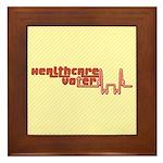 Red Healthcare Voter Tile (Framed)