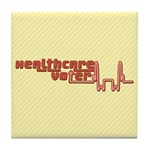 Red Healthcare Voter Tile Drink Coaster