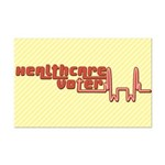Red Healthcare Voter Poster Print (Mini)