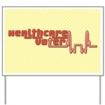 Red Healthcare Voter Yard Sign