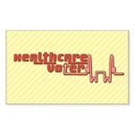 Red Healthcare Voter Stickers (Rect 50 pk)