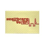 Red Healthcare Voter Rectangle Magnets (10 pk)