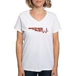 Red Healthcare Voter Women's V-Neck T-Shirt