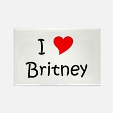 Cute Britney Rectangle Magnet