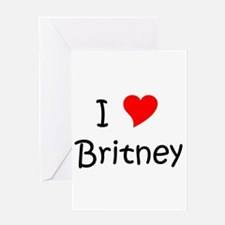 Cute Britney Greeting Card