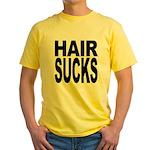 Hair Sucks Yellow T-Shirt