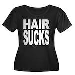 Hair Sucks Women's Plus Size Scoop Neck Dark T-Shi