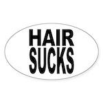 Hair Sucks Oval Sticker