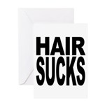 Hair Sucks Greeting Card