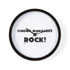 Cinema Managers ROCK Wall Clock