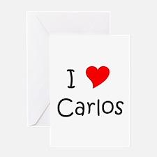 Cute I love carlos Greeting Card