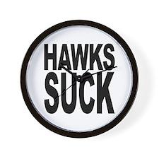 Hawks Suck Wall Clock