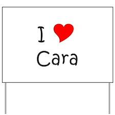 Cute Cara Yard Sign