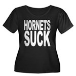 Hornets Suck Women's Plus Size Scoop Neck Dark T-S