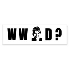 WHAT WOULD SARAH DO? Bumper Bumper Sticker