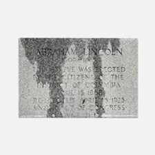 President Lincoln Statue Rectangle Magnet