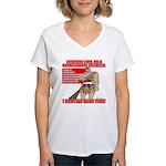 Proud Neanderthal Women's V-Neck T-Shirt