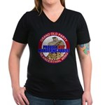 Anti-Abortion GOP Women's V-Neck Dark T-Shirt