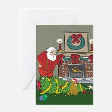 Santa's Helper Scottish Fold Greeting Card