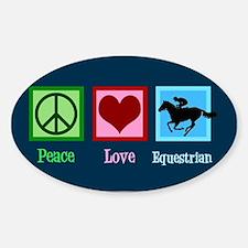 Cute Equestrian Sticker (Oval)