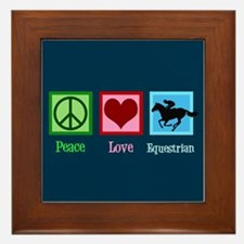 Cute Equestrian Framed Tile