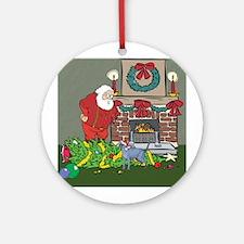 Santa's Helper Russian Blue Ornament (Round)