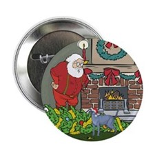 "Santa's Helper Russian Blue 2.25"" Button (10 pack)"