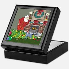 Santa's Helper Russian Blue Keepsake Box