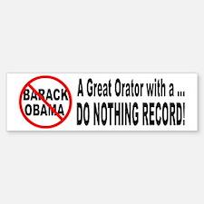 Anti Obama Do Nothing Record Bumper Bumper Bumper Sticker