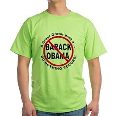 Anti Obama Do Nothing Record T-Shirt