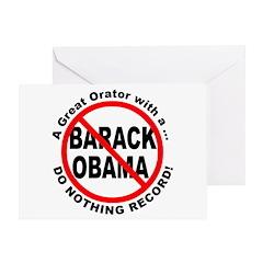 Anti Obama Do Nothing Record Greeting Card