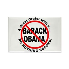 Anti Obama Do Nothing Record Rectangle Magnet (10