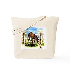Vintage Foal & Duckling Tote Bag