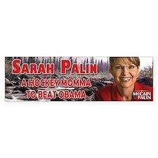 Palin Hockey Bumper Sticker