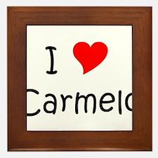 Unique Carmelo Framed Tile