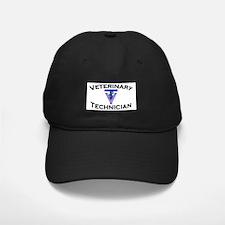 Black Cap - Vet Tech Blue Logo