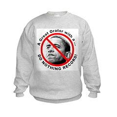 Anti Obama Do Nothing Record Sweatshirt