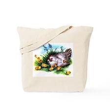 Vintage Hen & Chicks Tote Bag