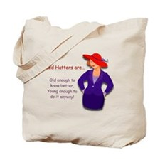 Red Hatter Tote Bag
