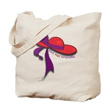 Red Hat Grandma Tote Bag