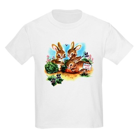 Vintage Bunnies Kids Light T-Shirt