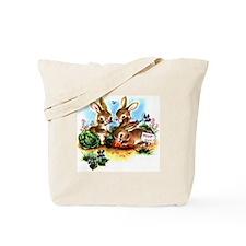 Vintage Bunnies Tote Bag