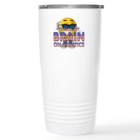 Hockey Mom Lipstick Stainless Steel Travel Mug