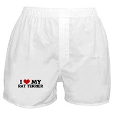 I Love My Rat Terrier Boxer Shorts