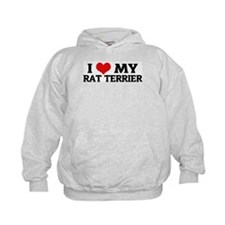 I Love My Rat Terrier Hoodie