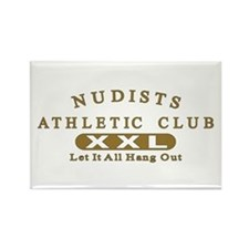 Nudist Athletic Club Rectangle Magnet